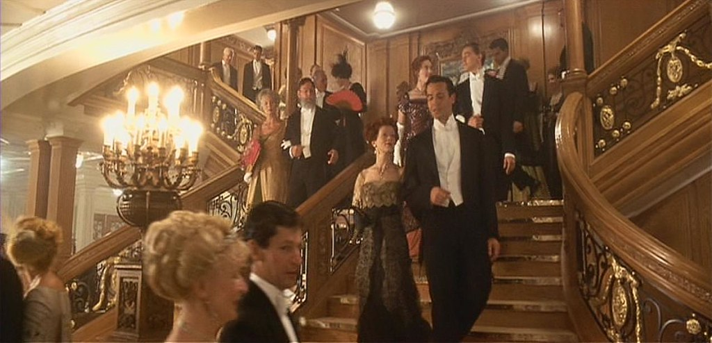 Rms titanic 39 s first class grand staircase titanic 1997 Who was on the titanic in first class
