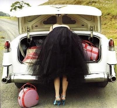 falda tul coche