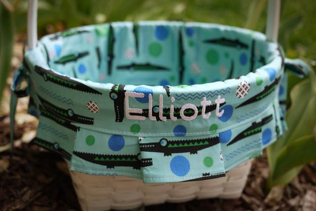 Elliott's Gator-y Easter Basket