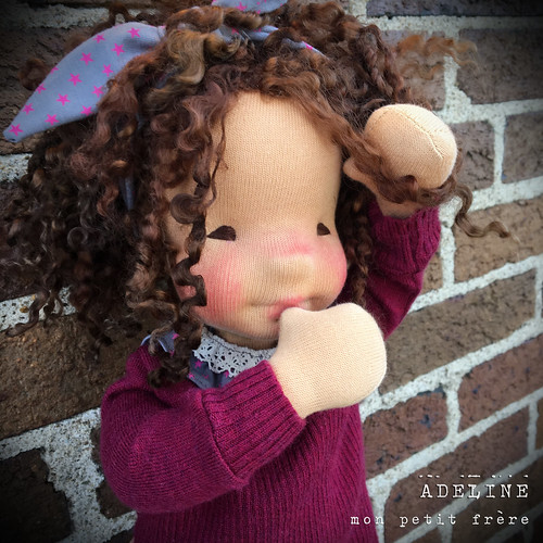 "Adeline- 18"" Natural Fiber Art Doll"