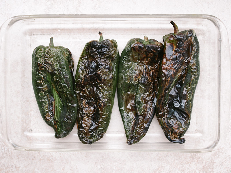 Tofu Scramble Stuffed Poblano Peppers