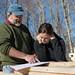 Charlie & Tara Looking at Construction Plans