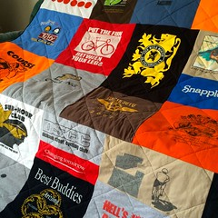 Cycling T-Shirt Quilt Close up
