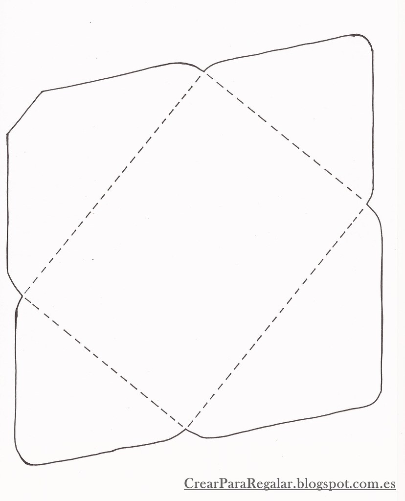 Plantilla para hacer un sobre plantilla que puedes coger for Como hacer un sobre rectangular