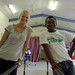 Portrait of Occupational Therapy volunteer Melanie Glapa and student George Hage at the physiotherapy ward at the National Referral Hospital, Honiara.