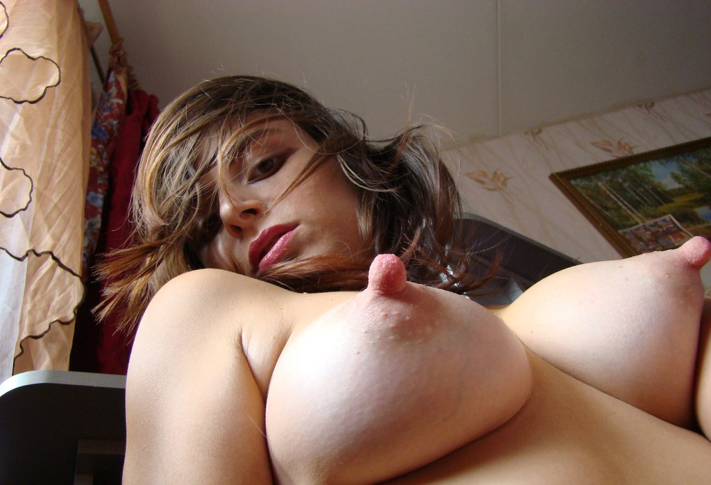 Pointy tits big nipples