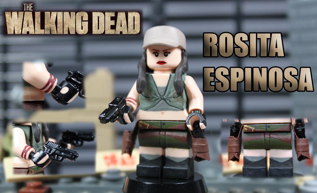 custom lego the walking dead season 4 rosita espinosa. Black Bedroom Furniture Sets. Home Design Ideas