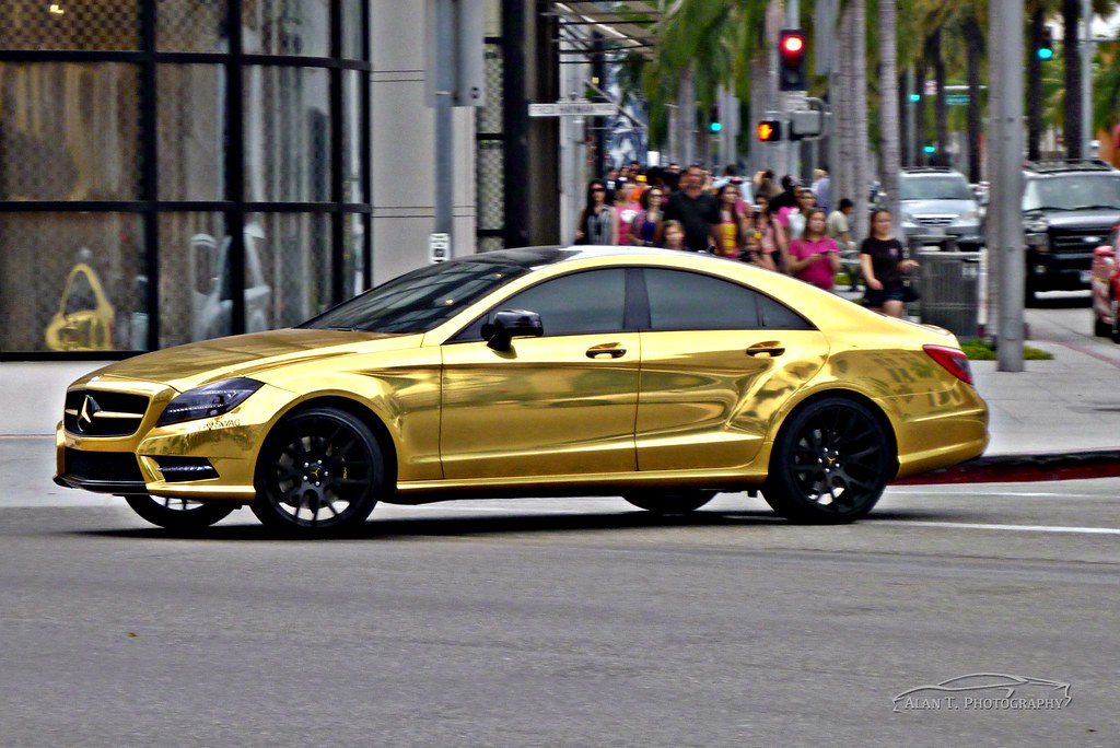 Chrome Car Wrap >> Chrome Gold Mercedes CLS550 | https://www.youtube.com ...