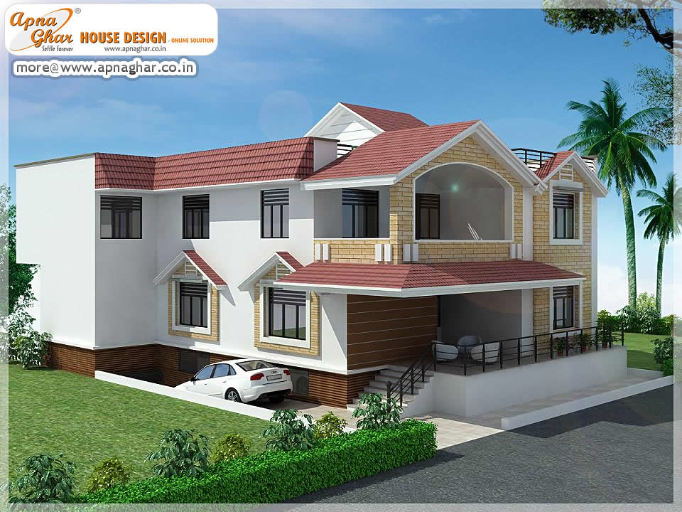5 bedrooms duplex house design 5 bedrooms duplex house for Outer look of house design