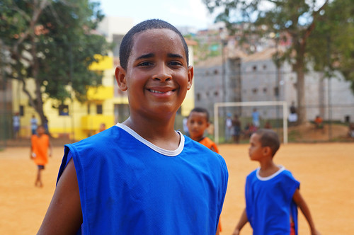 A young soccer player near the Community Center of Pirajá | by World Bank Photo Collection