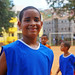 A young soccer player near the Community Center of Pirajá