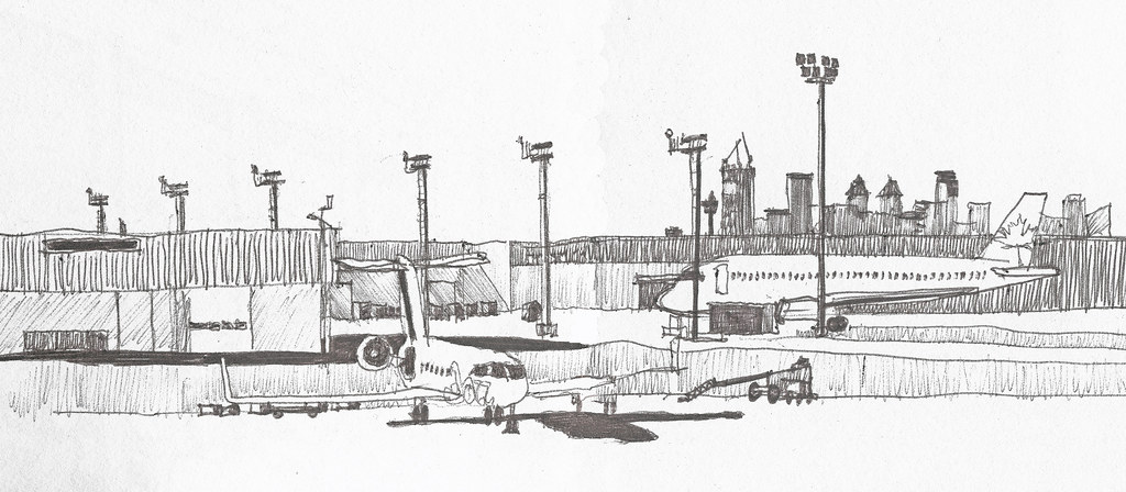 Calgary Airport Sketch Re Scanned Sketch From Calgary