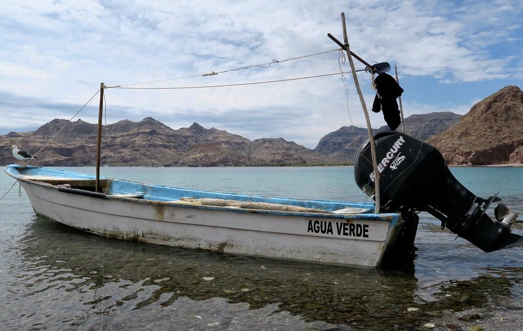 Una 'panga' de pescadors.