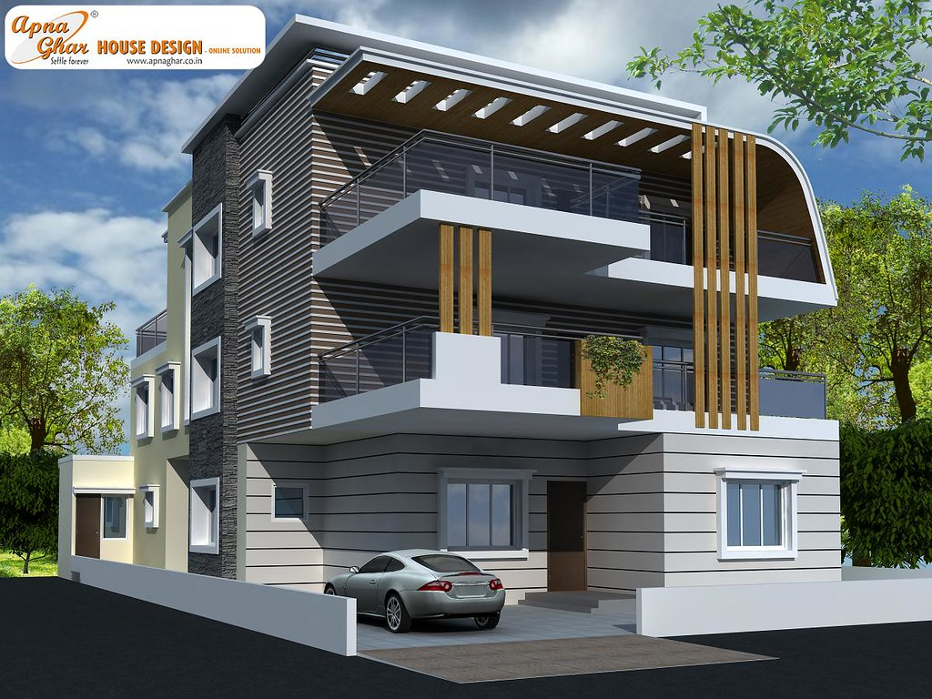 Front Elevation Of Triplex Houses : Triplex house design bedrooms in