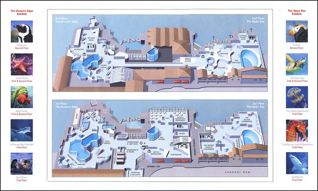 Ephemera Monterey Bay Aquarium Map Jassy 50 Flickr