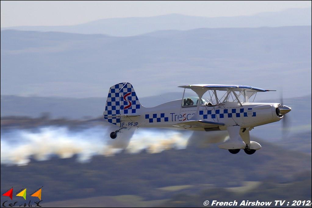 SA 300 Starduster Trescal F-PFJP Cervolix Plateau de Gergovie Auvergne Comment faire photos de Meeting Aerien 2012