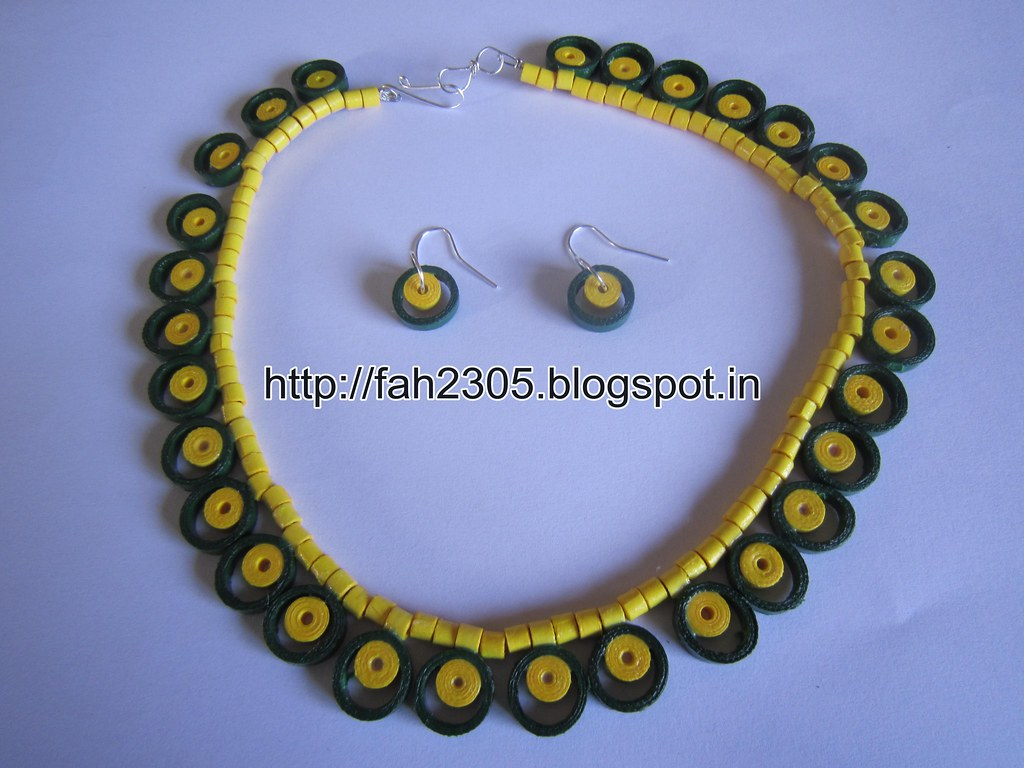 Paper Jewellery Necklace Paper Quilling Necklace
