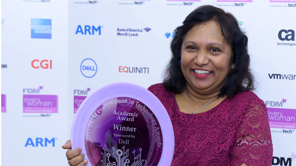 Winner of the 2017 FDM everywoman in Technology Awards Professor Semali Perera.