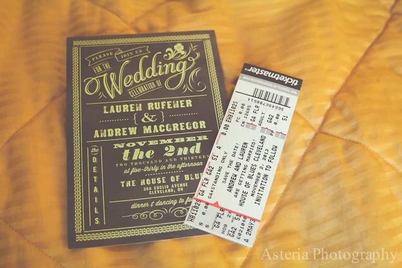 Wedding Invitation Tickets: Wedding Invitation And Concert Ticket Save The Date (Andre