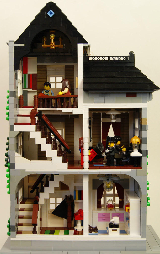 Lego Moc Music Teacher 39 S Town Home Interior At His Fancy Flickr