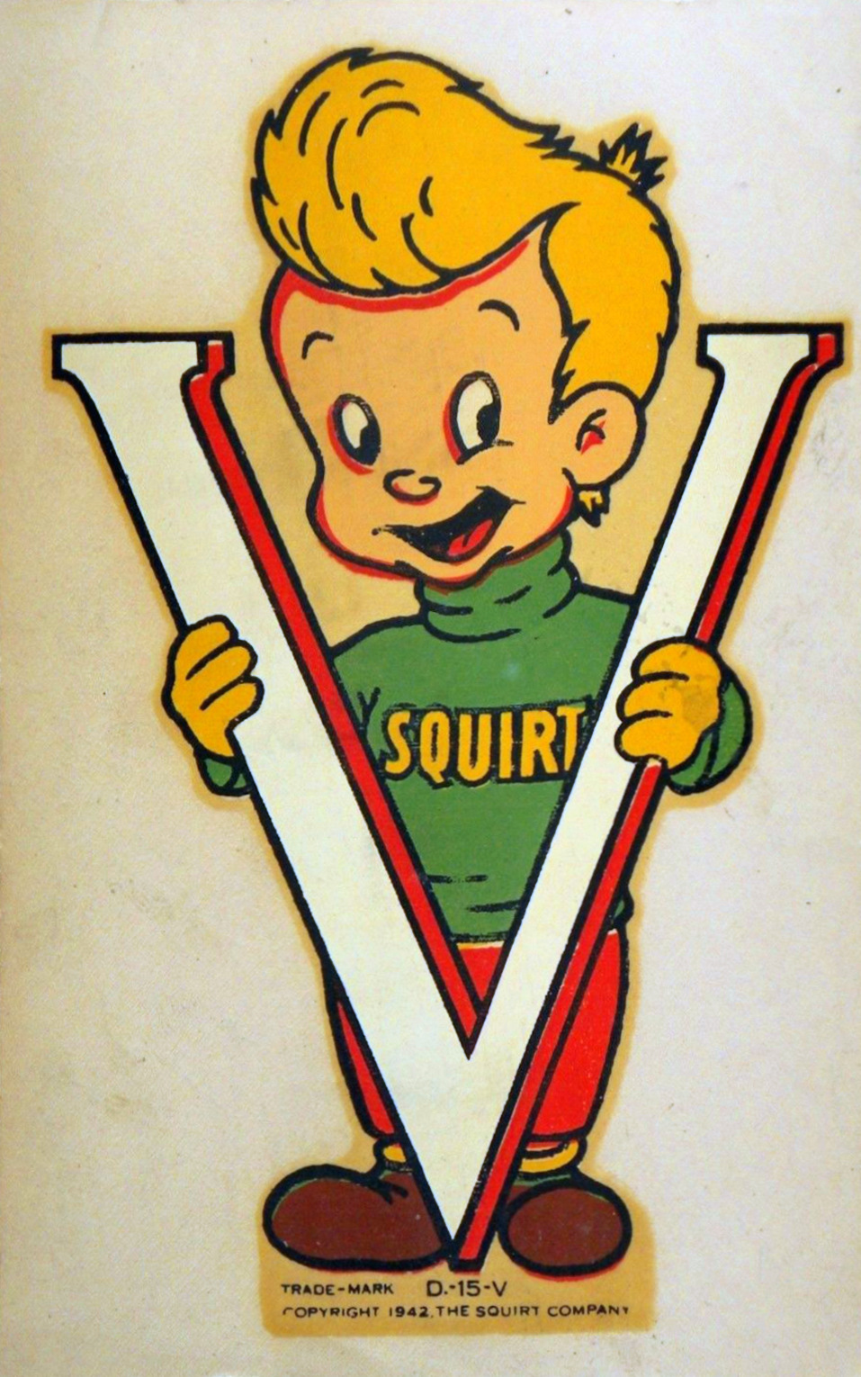 The Squirt Company 'V for Victory' sticker