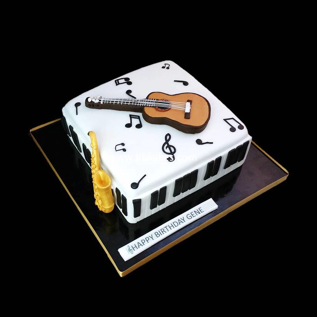 Chocolate Guitar Cake