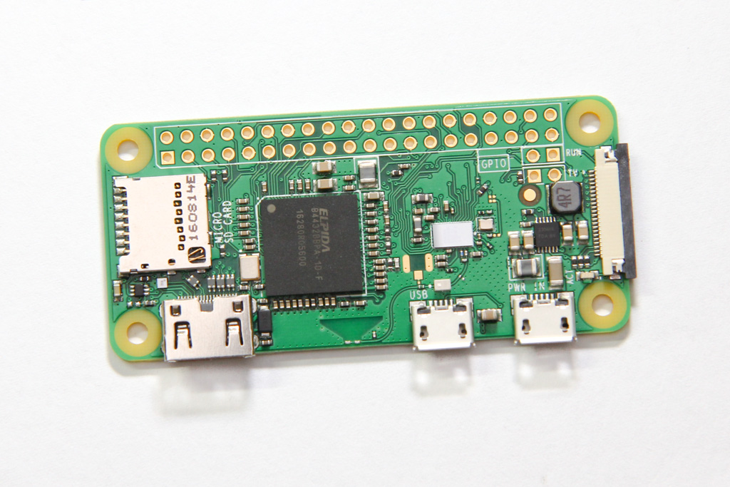 The Pi Zero W board