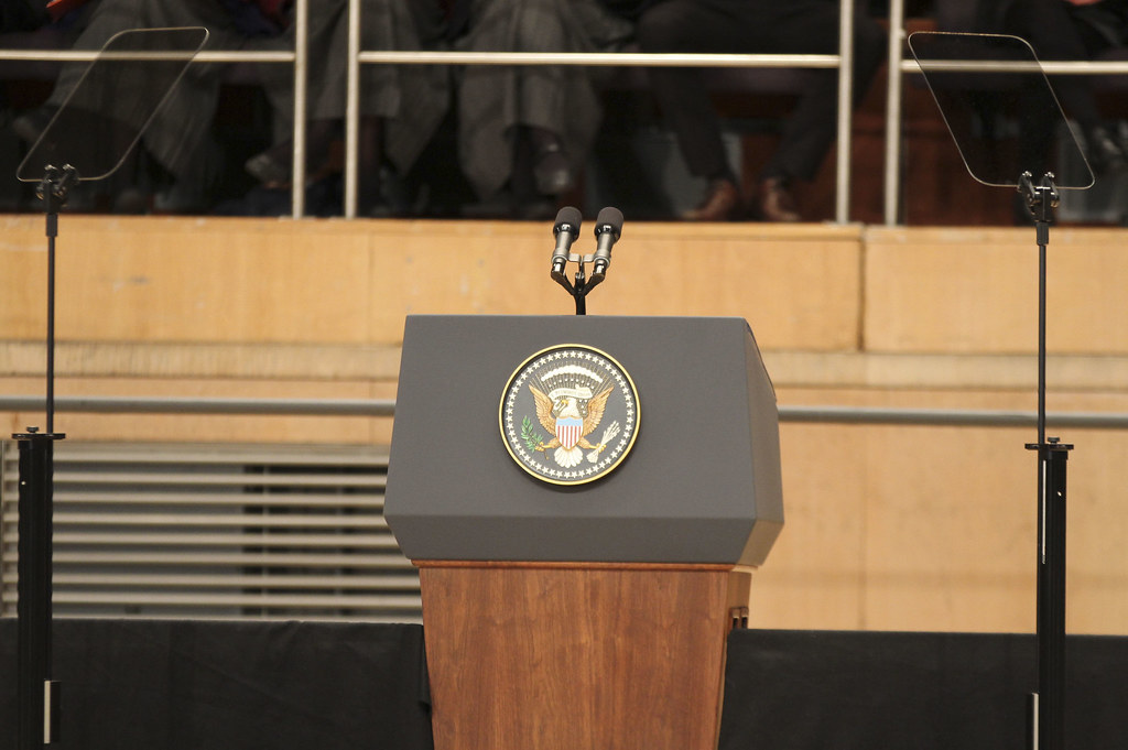 President Obama Speech Belfast June 2013 An Empty