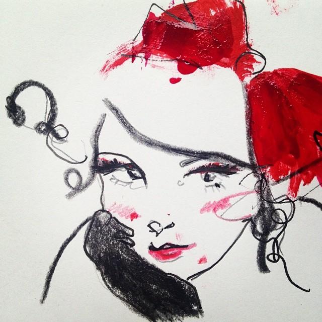 1st advent calendar #fashionillustration #fashion #bows #r… | Flickr
