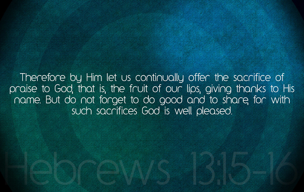 offer to god a sacrifice of thanksgiving