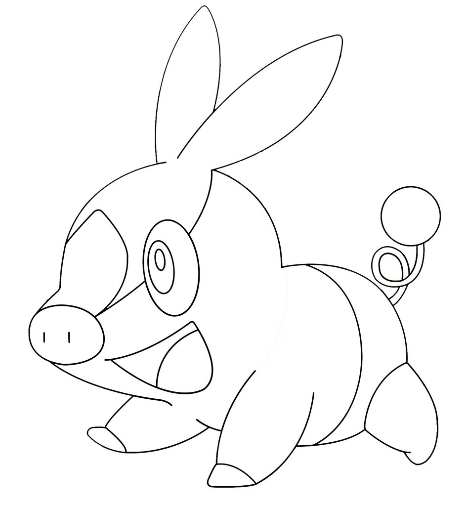 pig pokemon coloring pages - photo#5