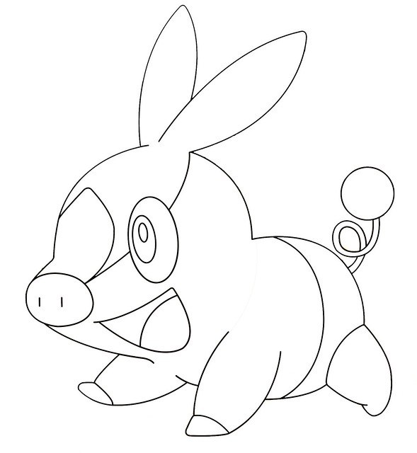 pokemon snivy coloring pages - photo#48