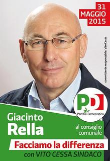 Casamassima -Il consigliere del PD Giacinto Rella