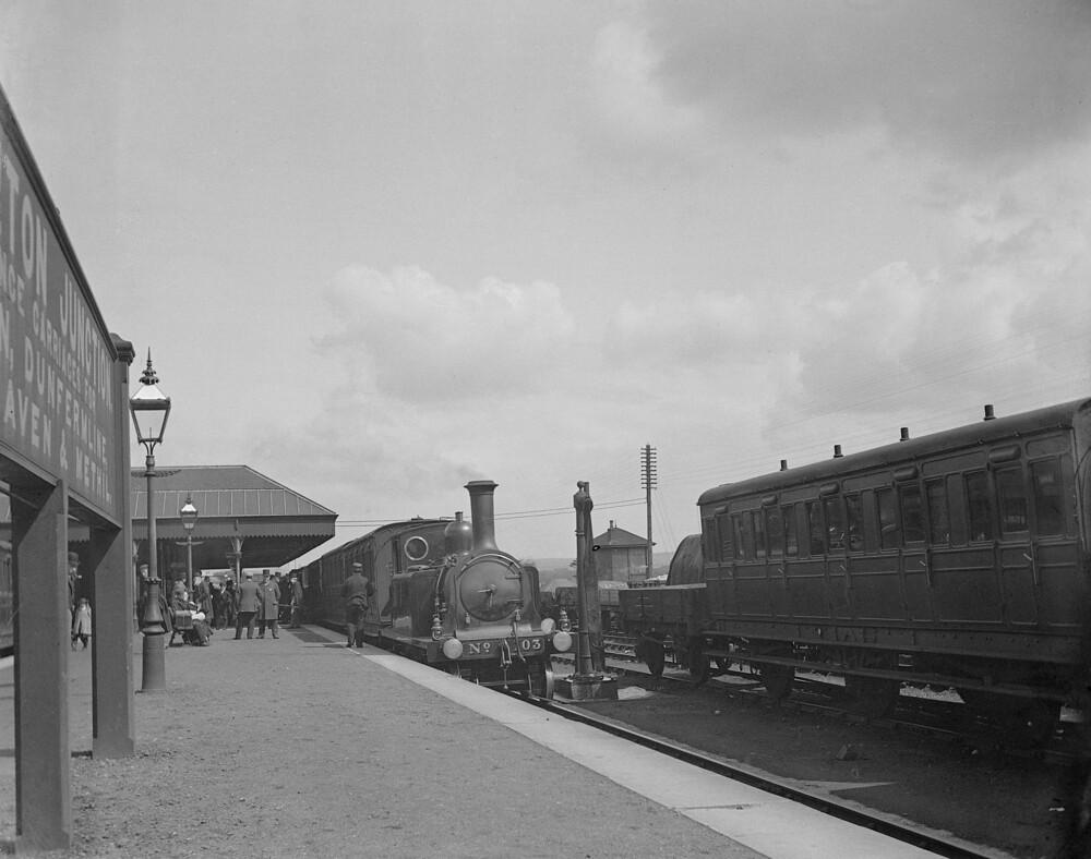 Thornton Station, Fife in Scotland 1895   Photographer ...