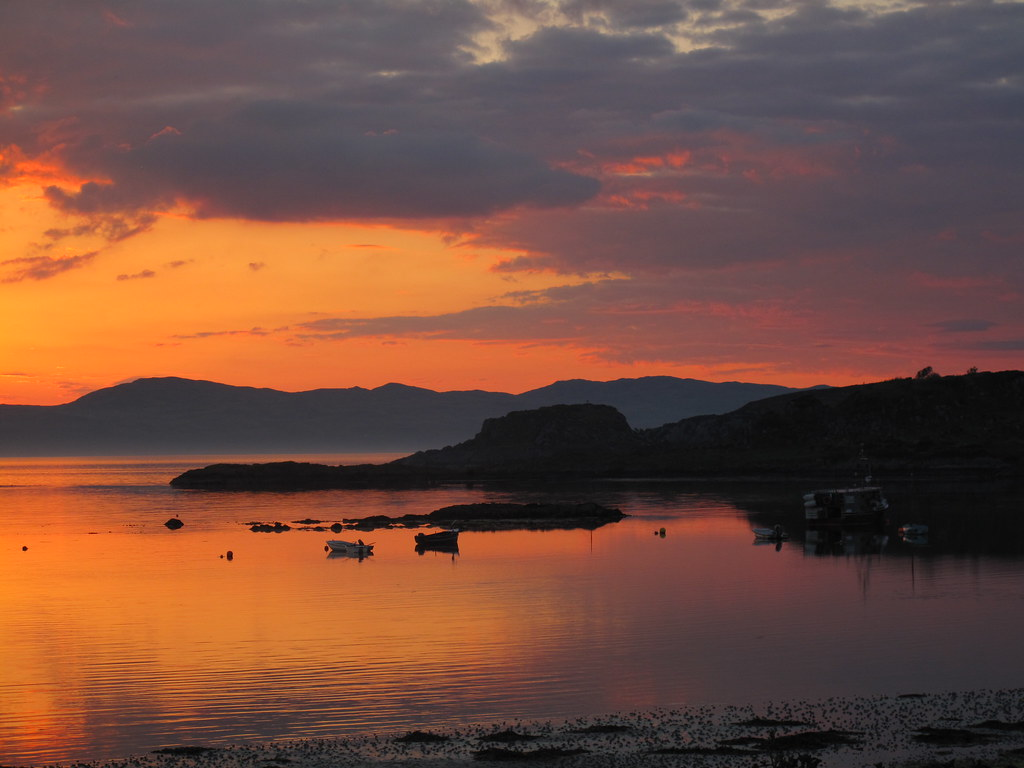 Sunset over Carsaig Bay, Tayvallich, Argyll, Scotland | Flickr