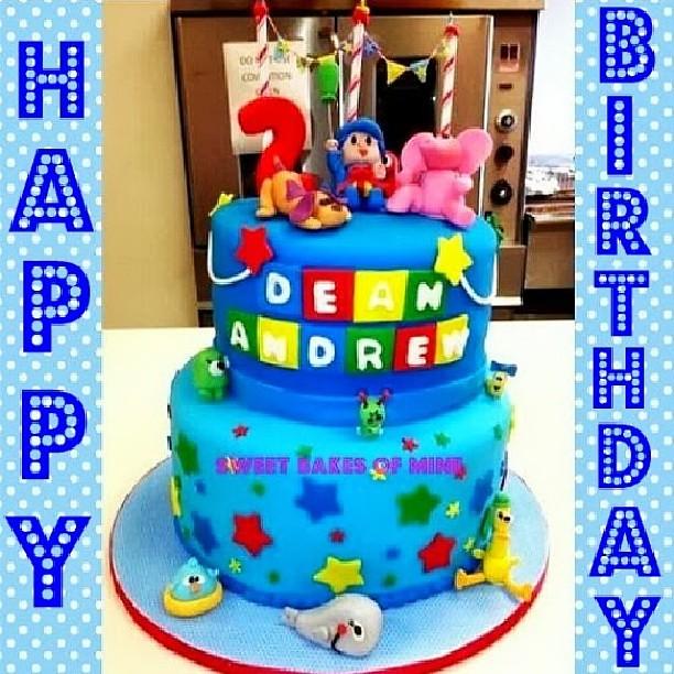 14 Year Old Birthday Cakes For Boys My Pocoyo Cake I Made A