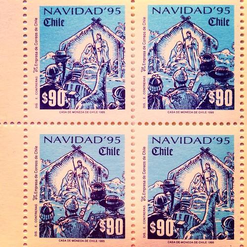 Estampillas Navidad 95 (Chile 1995)