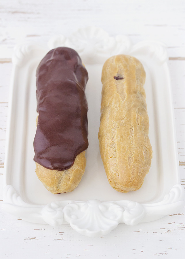 receta eclairs chocolate