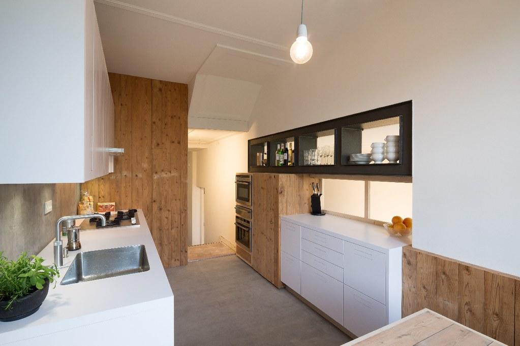 Herenhuis heemraadssingel nieuwe keuken van sloophout for Keuken van sloophout