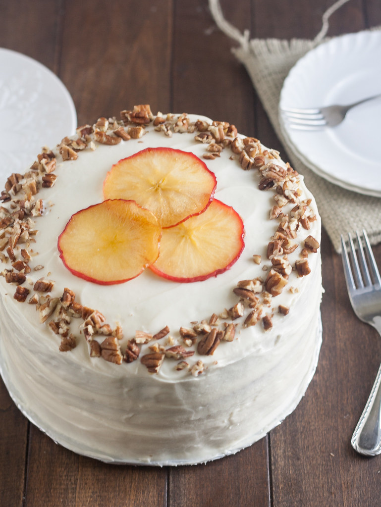 Apple Cake Goat Cheese Frosting