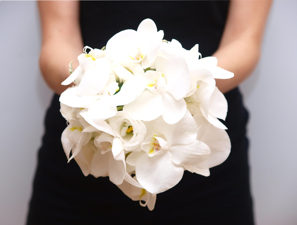 White Orchid Flower Bouquet White Orchid Wedding Bouquet