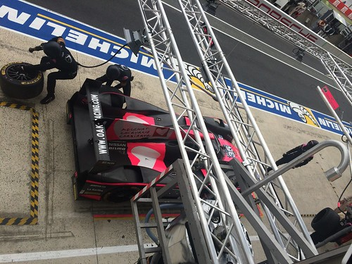 View of the pit lane from the Rebellion lounge