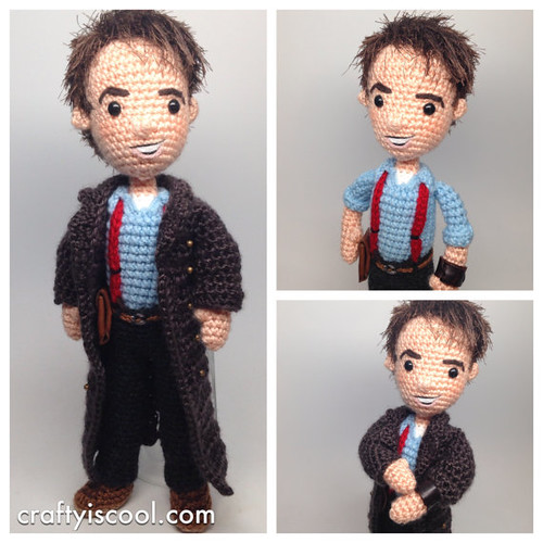 Doctor Who Crochet Amigurumi from CraftyIsCool - Captain Jack Harkness