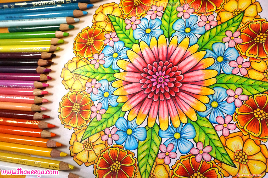 Flower Mandala Coloring Page By Thaneeya McArdle