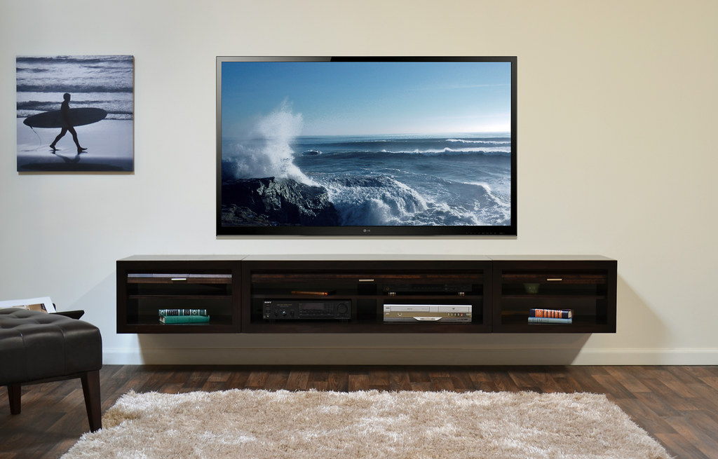 Wall Mount Tv Console Eco Geo Entertainment Center Espress