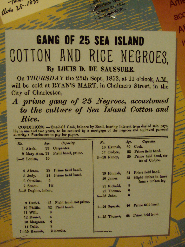 slave auction poster in gettysburg museum the civil war