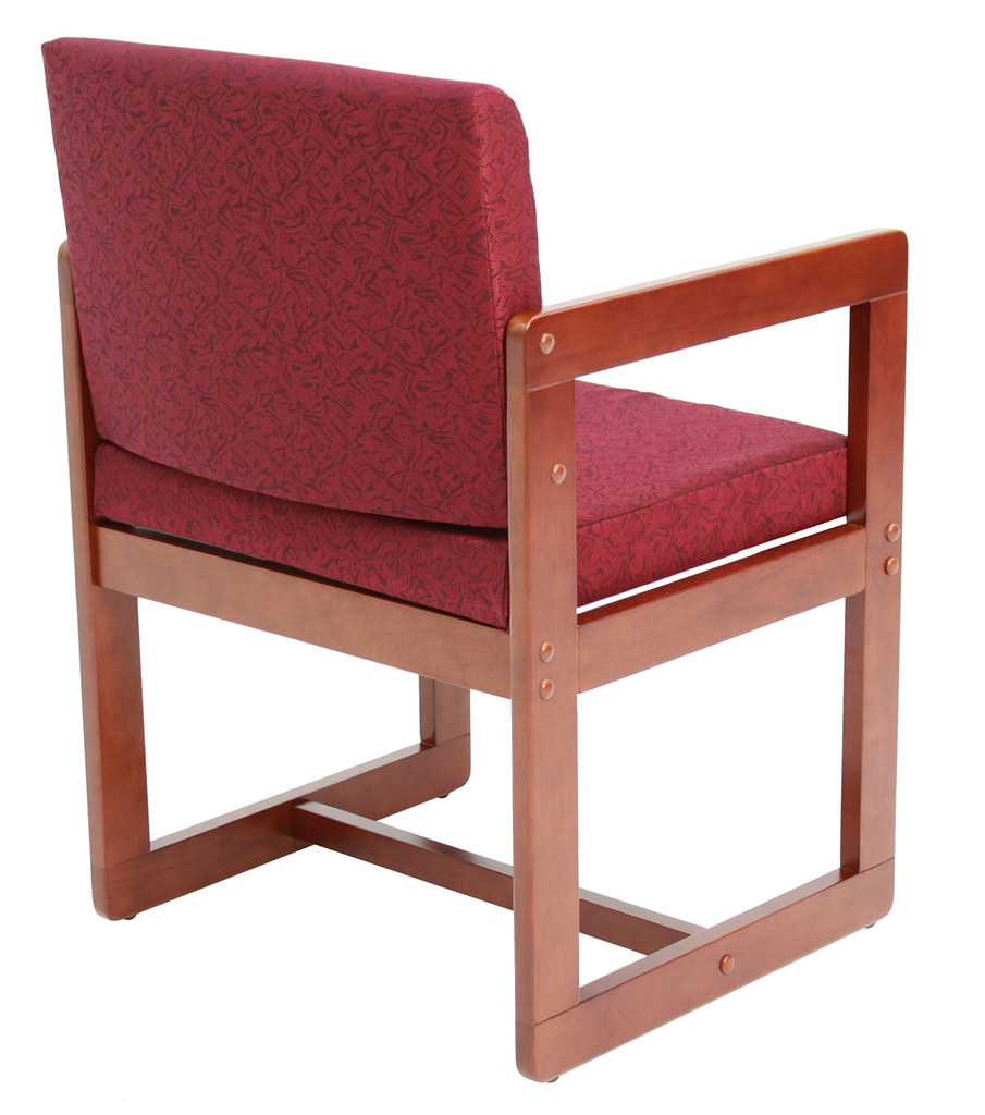 b61715chby back sled base side chair with arms in cherry