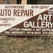 It's Auto Repair AND an Art Gallery