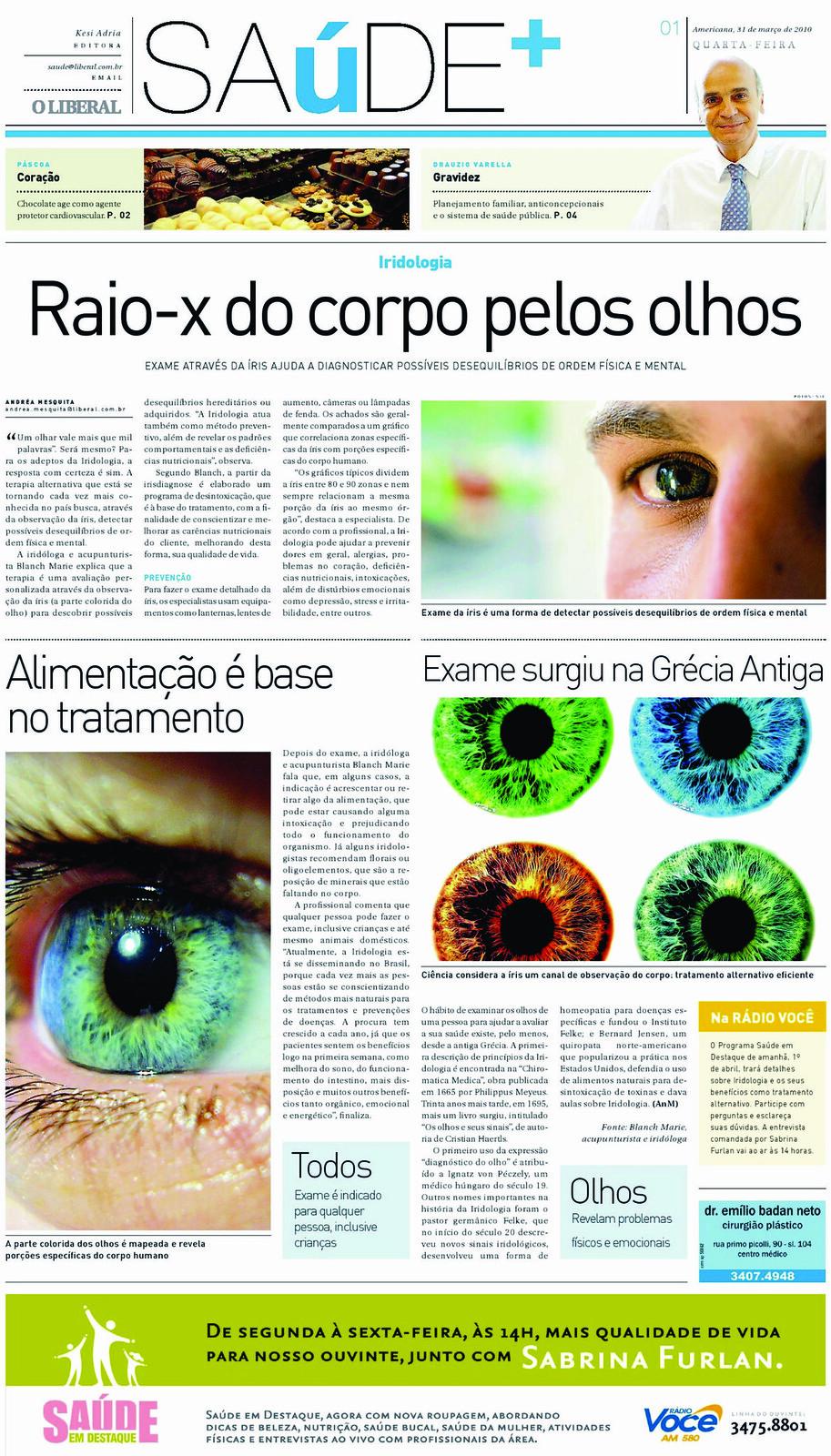 iridologia na midia;curso de iridologia, iridologia online, iridologia