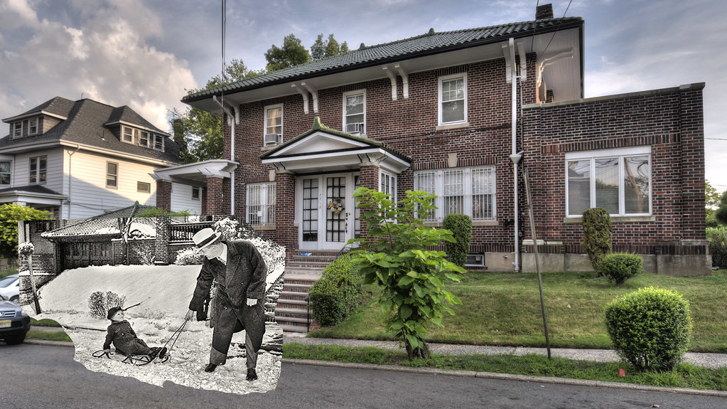 Cinderella man jim braddock and his daughter in front of for Jim s dog house